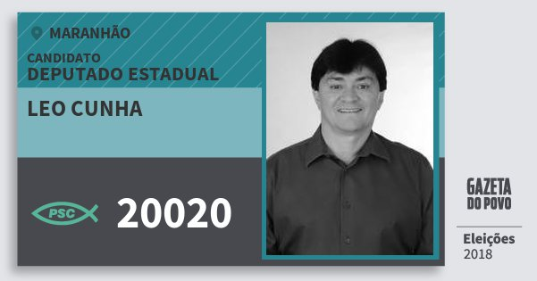 Santinho Leo Cunha 20020 (PSC) Deputado Estadual | Maranhão | Eleições 2018