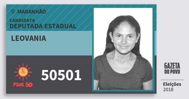 Santinho Leovania 50501 (PSOL) Deputada Estadual | Maranhão | Eleições 2018