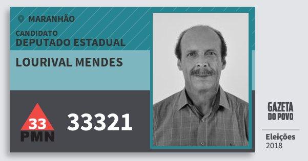 Santinho Lourival Mendes 33321 (PMN) Deputado Estadual | Maranhão | Eleições 2018