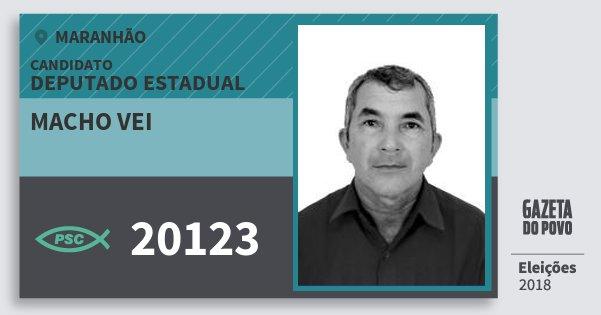 Santinho Macho Vei 20123 (PSC) Deputado Estadual | Maranhão | Eleições 2018