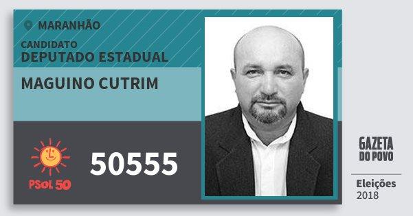 Santinho Maguino Cutrim 50555 (PSOL) Deputado Estadual | Maranhão | Eleições 2018
