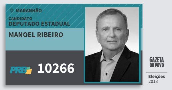 Santinho Manoel Ribeiro 10266 (PRB) Deputado Estadual | Maranhão | Eleições 2018