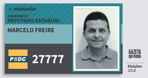 Santinho Marcelo Freire 27777 (DC) Deputado Estadual   Maranhão   Eleições 2018