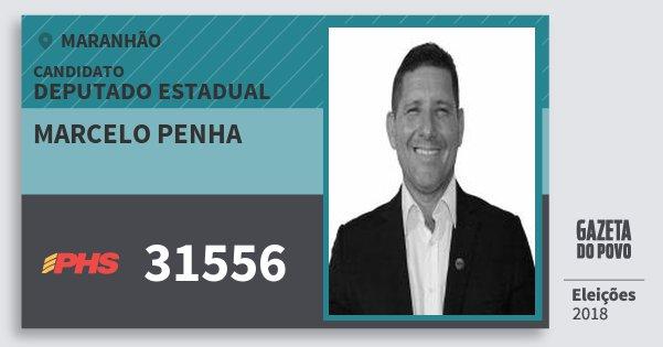 Santinho Marcelo Penha 31556 (PHS) Deputado Estadual | Maranhão | Eleições 2018
