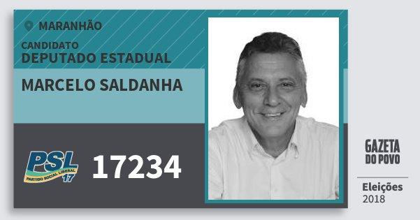 Santinho Marcelo Saldanha 17234 (PSL) Deputado Estadual | Maranhão | Eleições 2018