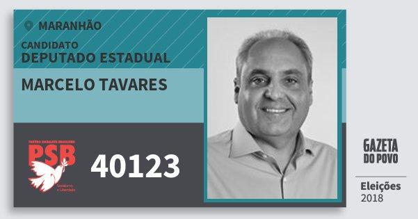 Santinho Marcelo Tavares 40123 (PSB) Deputado Estadual | Maranhão | Eleições 2018