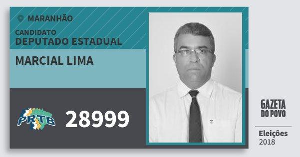 Santinho Marcial Lima 28999 (PRTB) Deputado Estadual | Maranhão | Eleições 2018