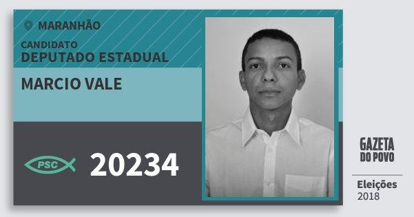 Santinho Marcio Vale 20234 (PSC) Deputado Estadual | Maranhão | Eleições 2018