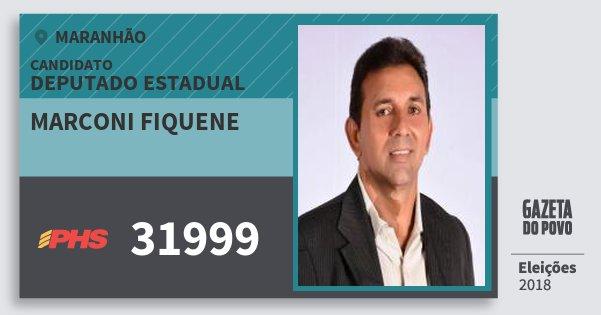 Santinho Marconi Fiquene 31999 (PHS) Deputado Estadual | Maranhão | Eleições 2018