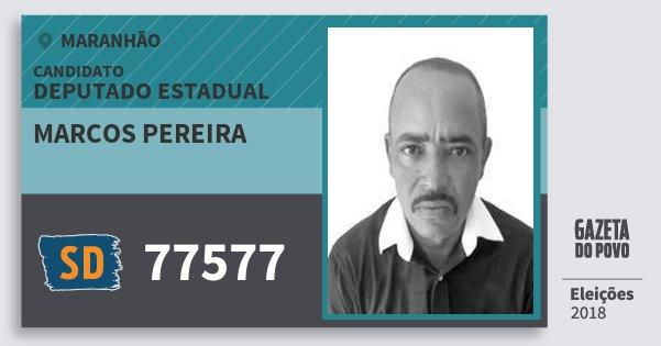 Santinho Marcos Pereira 77577 (SOLIDARIEDADE) Deputado Estadual | Maranhão | Eleições 2018