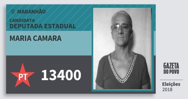 Santinho Maria Camara 13400 (PT) Deputada Estadual | Maranhão | Eleições 2018