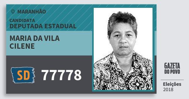 Santinho Maria da Vila Cilene 77778 (SOLIDARIEDADE) Deputada Estadual | Maranhão | Eleições 2018