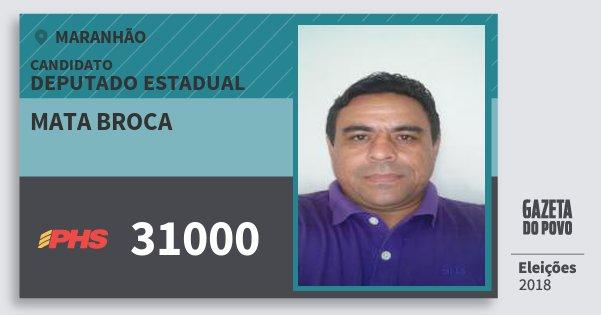 Santinho Mata Broca 31000 (PHS) Deputado Estadual | Maranhão | Eleições 2018