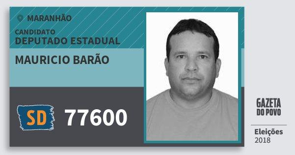 Santinho Mauricio Barão 77600 (SOLIDARIEDADE) Deputado Estadual | Maranhão | Eleições 2018