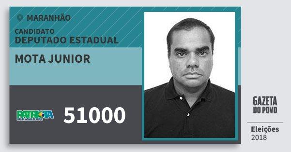 Santinho Mota Junior 51000 (PATRI) Deputado Estadual | Maranhão | Eleições 2018