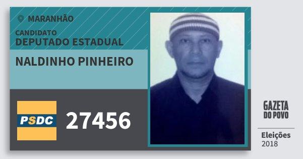 Santinho Naldinho Pinheiro 27456 (DC) Deputado Estadual | Maranhão | Eleições 2018