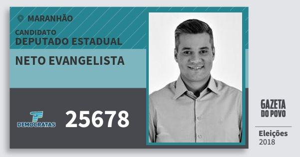 Santinho Neto Evangelista 25678 (DEM) Deputado Estadual | Maranhão | Eleições 2018
