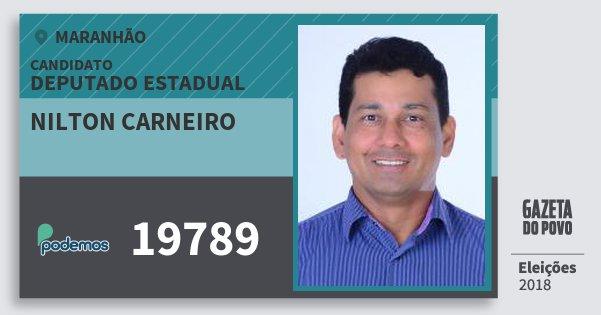 Santinho Nilton Carneiro 19789 (PODE) Deputado Estadual | Maranhão | Eleições 2018