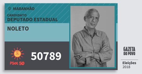 Santinho Noleto 50789 (PSOL) Deputado Estadual | Maranhão | Eleições 2018