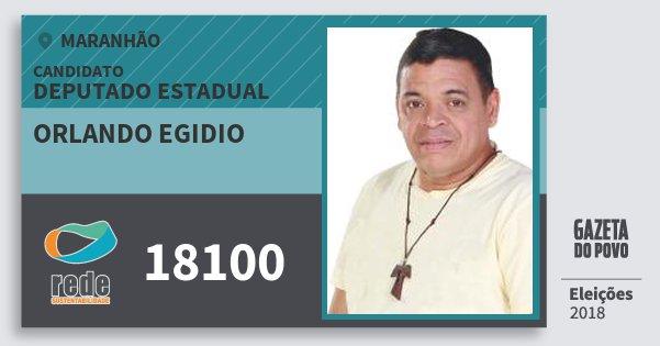 Santinho Orlando Egidio 18100 (REDE) Deputado Estadual | Maranhão | Eleições 2018