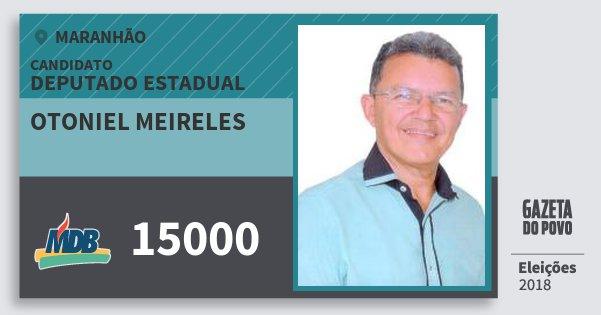 Santinho Otoniel Meireles 15000 (MDB) Deputado Estadual | Maranhão | Eleições 2018