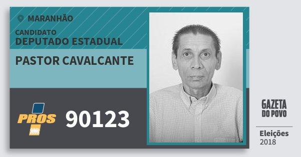 Santinho Pastor Cavalcante 90123 (PROS) Deputado Estadual   Maranhão   Eleições 2018