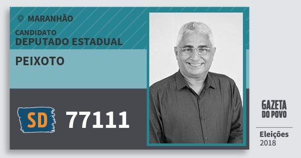 Santinho Peixoto 77111 (SOLIDARIEDADE) Deputado Estadual | Maranhão | Eleições 2018