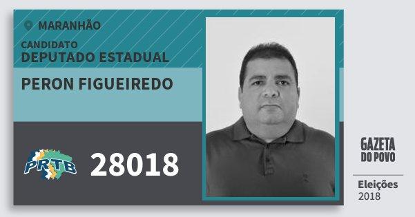 Santinho Peron Figueiredo 28018 (PRTB) Deputado Estadual | Maranhão | Eleições 2018