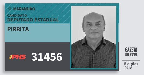 Santinho Pirrita 31456 (PHS) Deputado Estadual | Maranhão | Eleições 2018