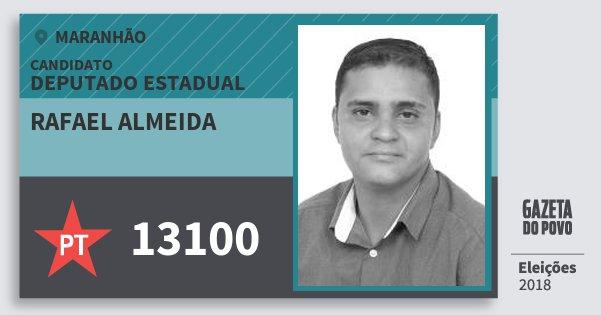 Santinho Rafael Almeida 13100 (PT) Deputado Estadual | Maranhão | Eleições 2018