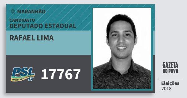 Santinho Rafael Lima 17767 (PSL) Deputado Estadual | Maranhão | Eleições 2018