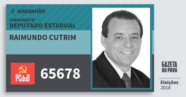 Santinho Raimundo Cutrim 65678 (PC do B) Deputado Estadual | Maranhão | Eleições 2018