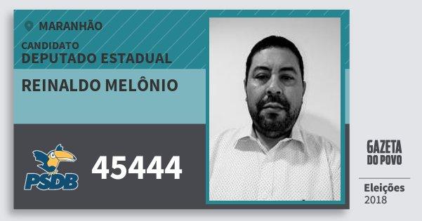 Santinho Reinaldo Melônio 45444 (PSDB) Deputado Estadual | Maranhão | Eleições 2018