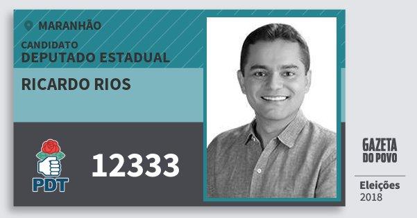 Santinho Ricardo Rios 12333 (PDT) Deputado Estadual | Maranhão | Eleições 2018