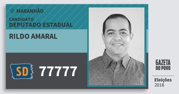 Santinho Rildo Amaral 77777 (SOLIDARIEDADE) Deputado Estadual | Maranhão | Eleições 2018