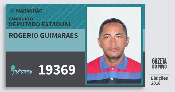 Santinho Rogerio Guimaraes 19369 (PODE) Deputado Estadual | Maranhão | Eleições 2018