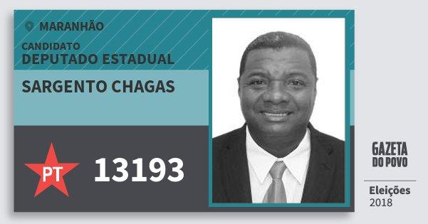 Santinho Sargento Chagas 13193 (PT) Deputado Estadual | Maranhão | Eleições 2018