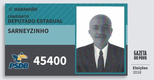 Santinho Sarneyzinho 45400 (PSDB) Deputado Estadual | Maranhão | Eleições 2018