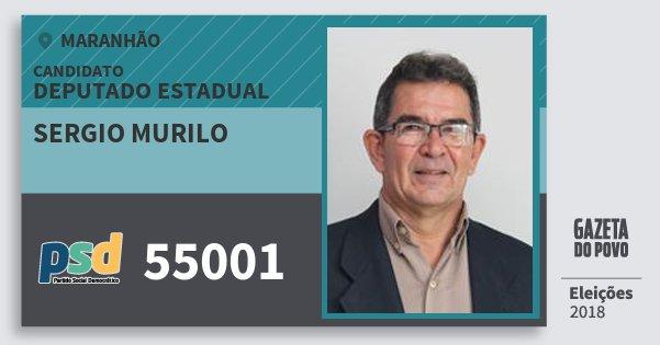 Santinho Sergio Murilo 55001 (PSD) Deputado Estadual | Maranhão | Eleições 2018