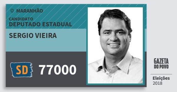 Santinho Sergio Vieira 77000 (SOLIDARIEDADE) Deputado Estadual   Maranhão   Eleições 2018