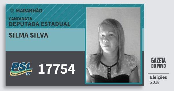 Santinho Silma Silva 17754 (PSL) Deputada Estadual | Maranhão | Eleições 2018