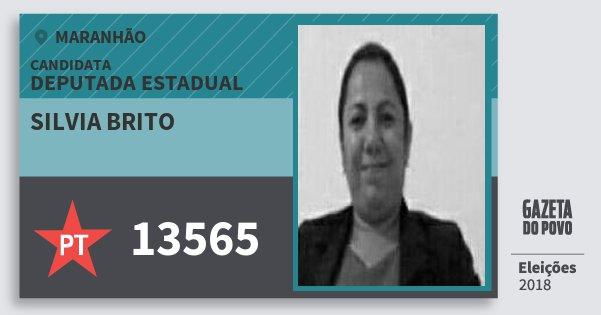 Santinho Silvia Brito 13565 (PT) Deputada Estadual | Maranhão | Eleições 2018