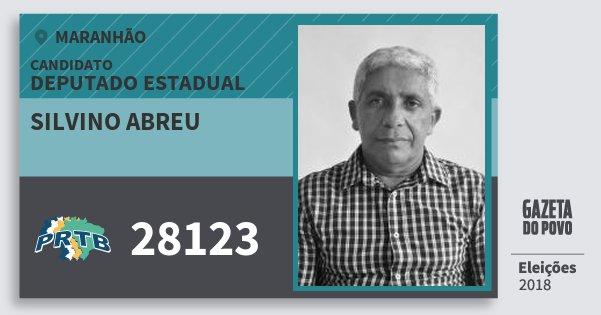 Santinho Silvino Abreu 28123 (PRTB) Deputado Estadual   Maranhão   Eleições 2018
