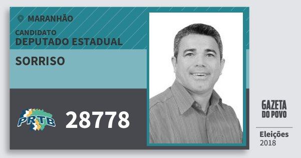 Santinho Sorriso 28778 (PRTB) Deputado Estadual | Maranhão | Eleições 2018