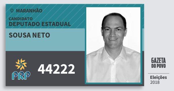 Santinho Sousa Neto 44222 (PRP) Deputado Estadual | Maranhão | Eleições 2018