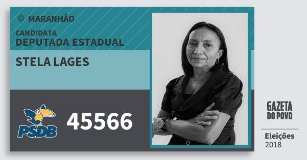 Santinho Stela Lages 45566 (PSDB) Deputada Estadual   Maranhão   Eleições 2018