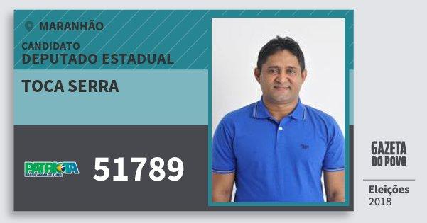 Santinho Toca Serra 51789 (PATRI) Deputado Estadual | Maranhão | Eleições 2018