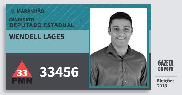 Santinho Wendell Lages 33456 (PMN) Deputado Estadual | Maranhão | Eleições 2018