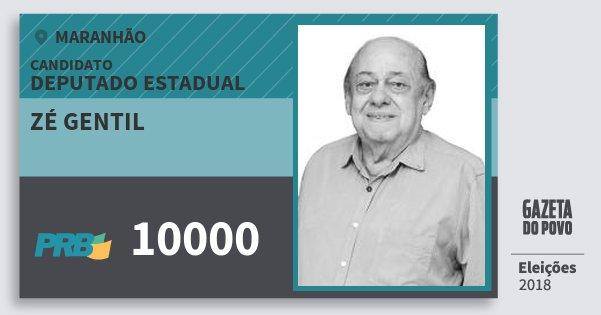 Santinho Zé Gentil 10000 (PRB) Deputado Estadual | Maranhão | Eleições 2018