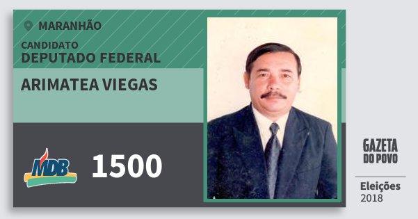Santinho Arimatea Viegas 1500 (MDB) Deputado Federal | Maranhão | Eleições 2018